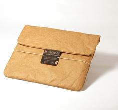 Cement mini Ipad sleeve, brown