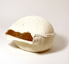 """Knitted bowl """"The clam"""", big"""