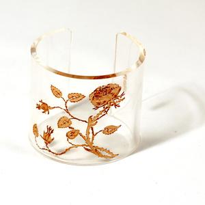 Cuff, Thorn Flower, Transparent, 60 mm