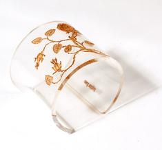 Armband Vildrosor, transparent, 60 mm