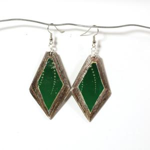 Örhänge Diamond Smaragd