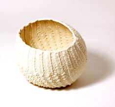 """Knitted bowl """"Round"""", small"""