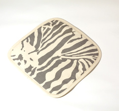Botanical Zebra Pot holder, Light grey