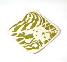 Botanical Zebra Grytlapp, Wasabi grön