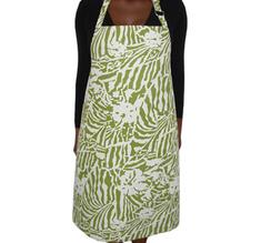 Botanical Zebra Förkläde, Wasabi grön