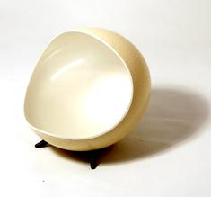 Snacksskål strutsägg pärlvit
