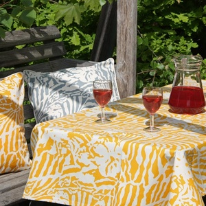 Botanical Zebra Tablecloth, Butternut