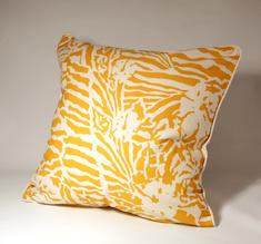 Botanical Zebra Cushion cover, Butternut