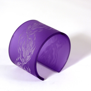 Cuff Flame, aurora violet 50 mm