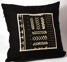 Bogolan pillow cover