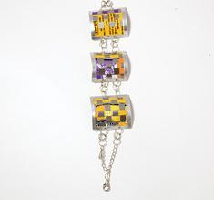 3 link bracelet, yellow