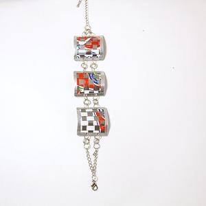 3 link bracelet, red