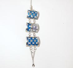 Armband 3 länkar blå
