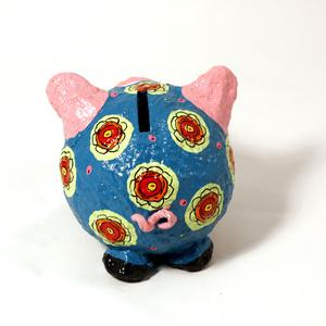Moneybox smal pig blue