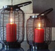 Lanterna, Ribbad Svart, låg