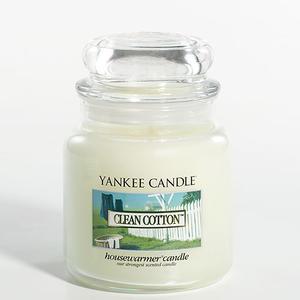 Clean Cotton, Medium Jar, Yankee Candle