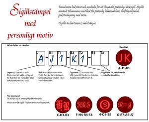 Egen Monogramstämpel från Skandinaviska Lackfabriken