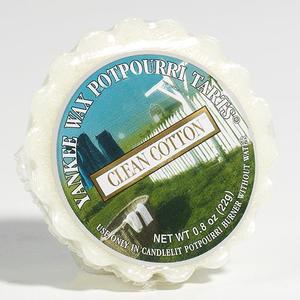 Clean Cotton, Vaxkaka, Yankee Candle