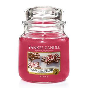 Frosty Gingerbread,  Medium Jar, Yankee Candle