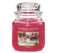 Frosty Gingerbread,  Medium Jar, Yankee Candle