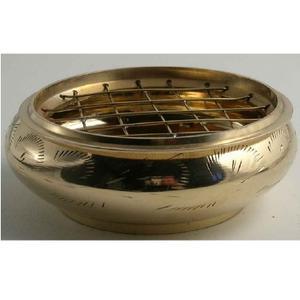 Rökelsekärl i mässing, 8 cm diameter.