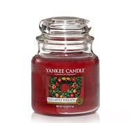 Red Apple Wreath, Medium jar, Yankee Candle