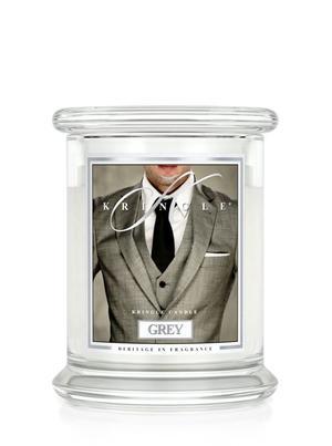 Grey, 2-Wick Medium Classic Jar, Kringle Candle