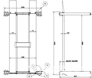 4-pelarlyft Parkeringslyft