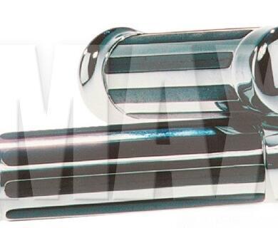 Gummihandtag med Chrome gummiräfflor 150 mm 7/8 111075