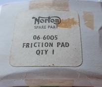 Norton 06-6005 Bromspads  Original