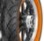 Metzeler ME888 Marathon Ultra OW  150/80B16 RF TL 77H Bakdäck Orange däcksidor 348378