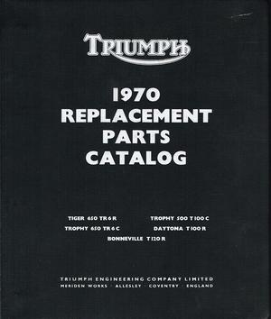 Triumph 650 Reservdelskatalog 1970 Copy