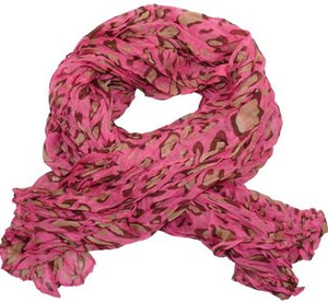 XXL-sjal Animalprint i modefärger