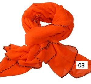 XL-sjal Neon med svart bård