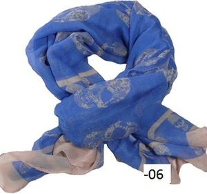 XXL-sjal med dödskallemönster