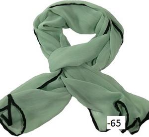 Chiffonscarves med svart bård