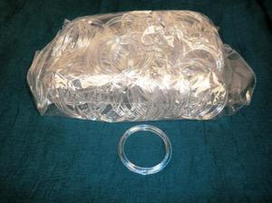 Sjalringar 6,5cm diam Silverglitter