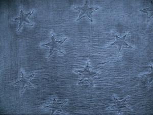 Storsjal med sydda stjärnor