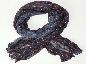 Krinklad chiffonscarves med äpple-motiv