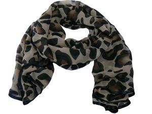 XXL-sjal Animal med bård