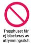 1980 Trapphuset får ej blockeras av utrymingsskäl