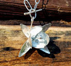 Silverhalsband - stor fuchsia