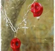 Red skull necklace