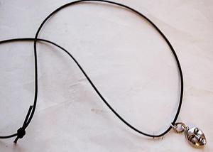 Halsband Harmony med läderrem
