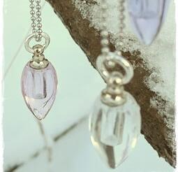 Fragrance necklace - glass pendant