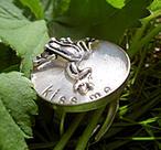 Silverring med groda