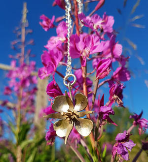 Necklace fireweed bronze