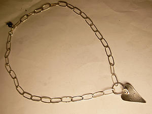 Sterling silver necklace - kärlek