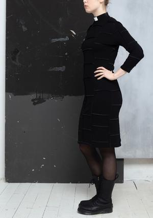 NO-WASTE - Klänning med smal trekvartsärm