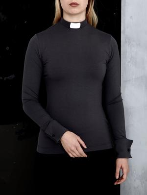 RAKEL Clergy Shirt black